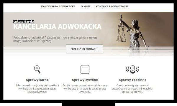 Strona internetowa adwokata działającego na terenie Łęcznej i Lublina