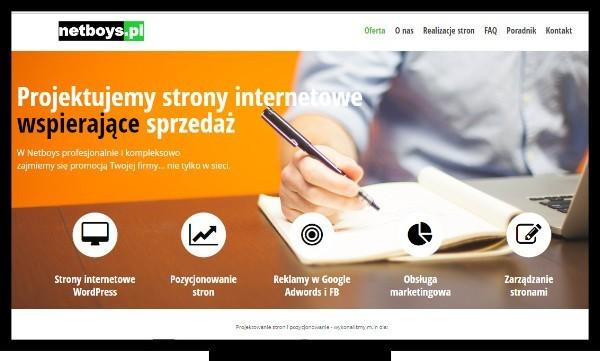 Pozycjonowanie Lublin, projektowanie stron. Strona agencji interaktywnej Netboys - JW PROMOTION