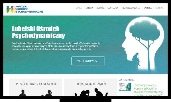 Projektowanie stron internetowych Lublin. Strona Lubelskiego Ośrodka Psychodynamicznego z Lublina