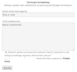 Formularz kontaktowy na stronę www - Contact Form 7 WordPress