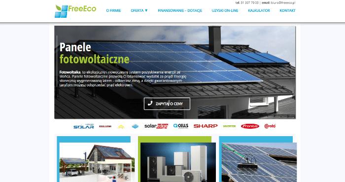 FREEECO - projektowanie stron internetowych lublin cennik